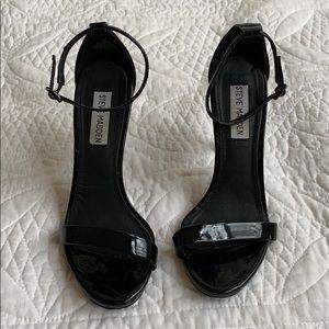 "Steve Madden ""Stecy"" black patent heels"